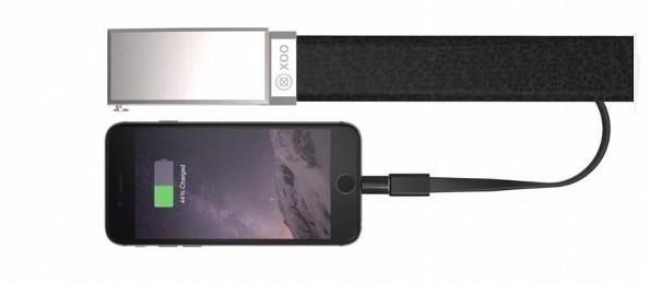 Se venderán cinturones con los que puedan cargar la bateria del celular o tablet
