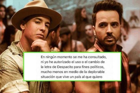 Político usa 'Despacito' para su campaña y enfurece a Luis Fonsi y Daddy Yankee