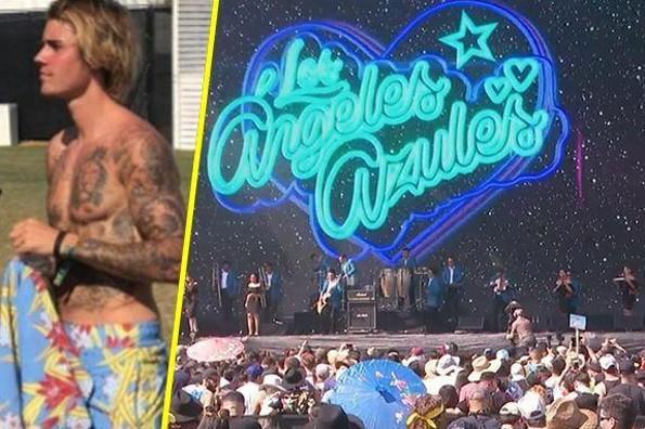 Justin Bieber baila al ritmo de Los Ángeles Azules en Coachella ¡y se vuelve viral!