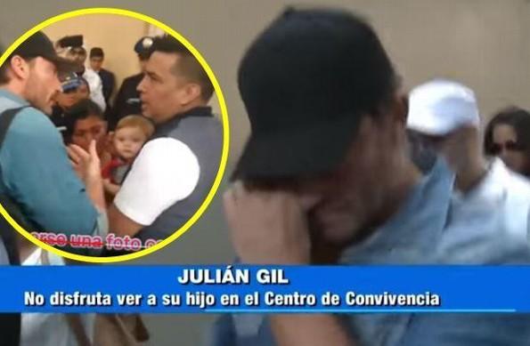 Julián Gil rompe en llanto porque le negaron tomarse una foto con su hijo Matías (+VIDEO)