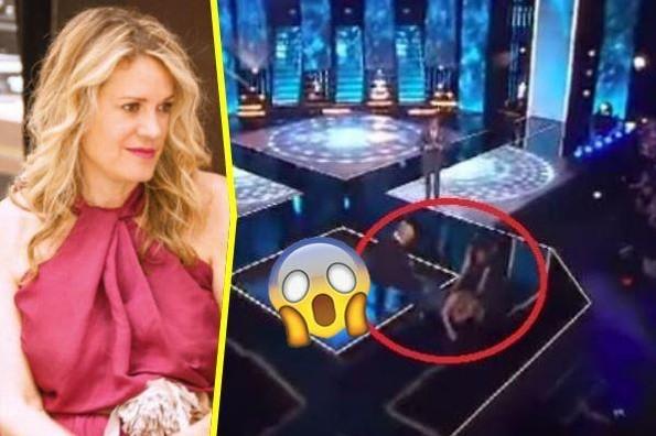 Auch! Rebecca de Alba sufre dolorosa caída en Mexicana Universal (+VIDEO)