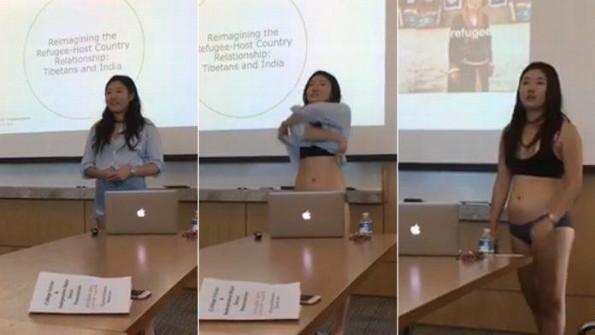 Universitaria se desnuda para presentar su tesis (+VIDEO)