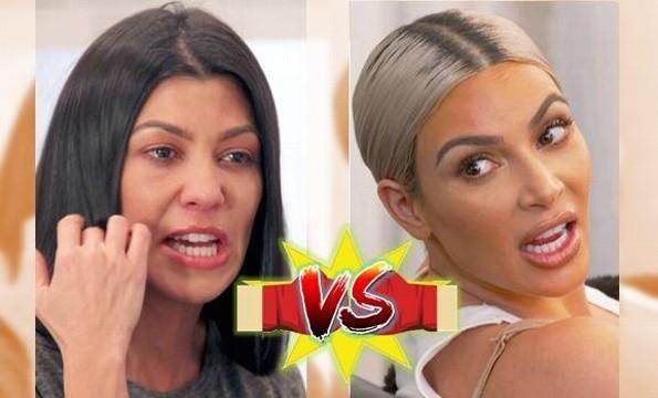 ¡Batalla campal! Kim y Kourtney Kardashian se dicen de todo en Twitter (+FOTOS)