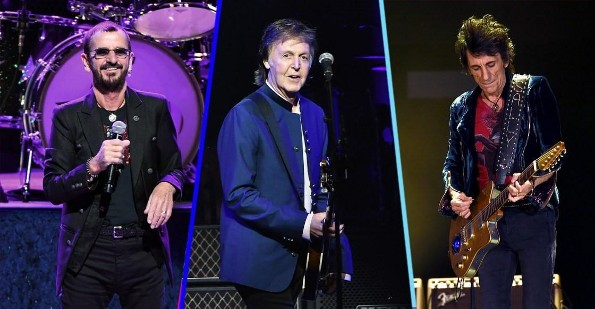 Ringo Starr, Paul McCartney y Ronnie Wood se reunieron para interpretar 'Get Back' (+VIDEO)