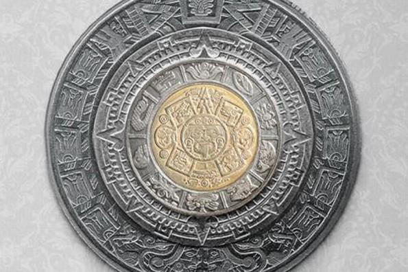 Así puedes formar el calendario azteca usando monedas #FOTOS