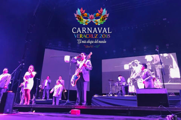 Los Ángeles Azules destacan en el Carnaval de Veracruz 2019 #VIDEO