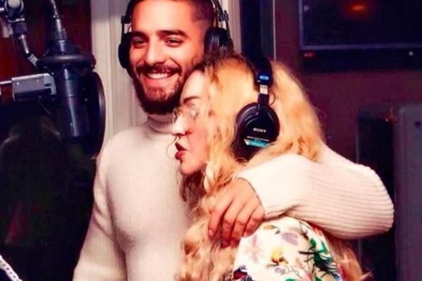 Madonna y Maluma presumen adelanto de su colaboración: