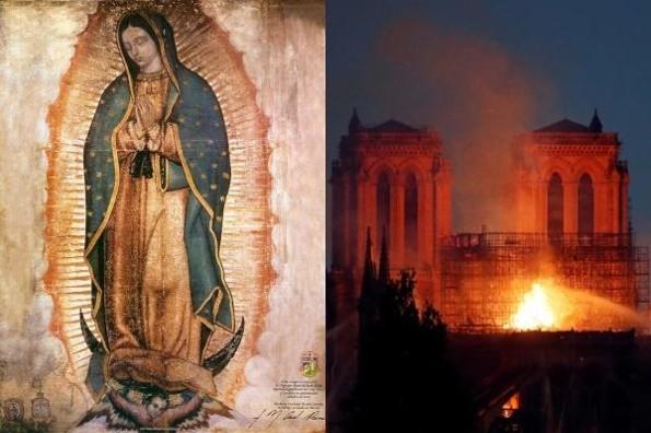 Notre Dame tenía un lugar dedicado a la Virgen de Guadaupe #FOTO