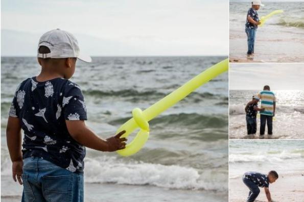 Niño que soñaba con castillos de arena por fin conoce el mar #FOTOS