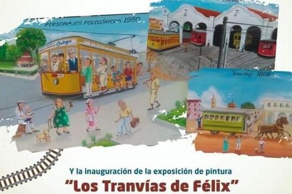 Exponen pinturas de tranvías en Museo de la Ciudad de Veracruz