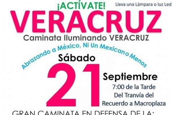 Habrá caminata a favor de la vida en Veracruz