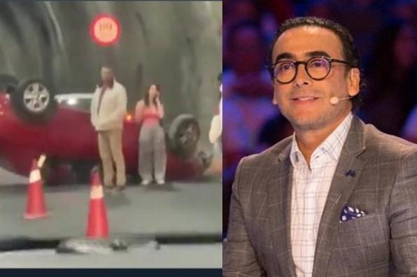 Adal Ramones presencia accidente automovilístico en CDMX, anuncia en su Twitter