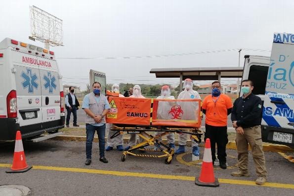 Diseñan en Veracruz cápsula de traslado para pacientes con coronavirus obesos o altos