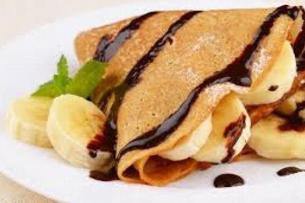 Receta de hoy: Crepas de chocolate y plátano