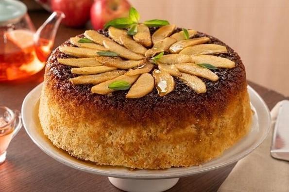 Receta de hoy: Volteado de manzana en sartén