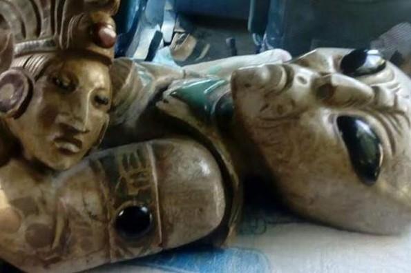 Circulan supuestas figuras arqueológicas mayas alienígenas (+fotos)