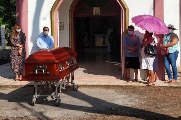 Homenaje y último adiós a Alfredo Palacios en Ángel R. Cabada, Veracruz