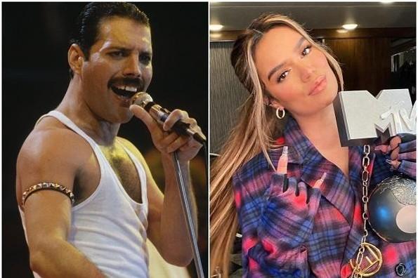 Comparan a Karol G con Freddie Mercury y estallan los memes (+fotos)