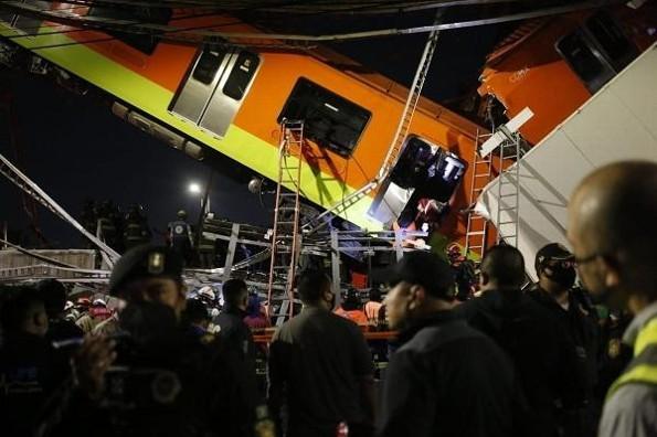 Impresionante imágenes del desplome del Metro de la CDMX (+video)