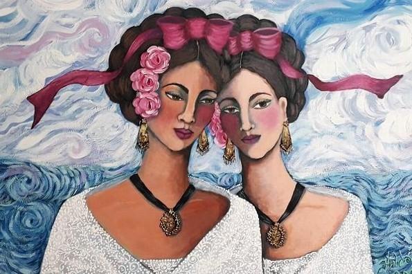 Exponen en Veracruz las pintoras Hilda Verde y Cassandra Roberts