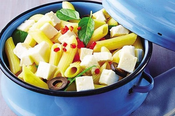 Receta de hoy: Ensalada mediterránea con pasta