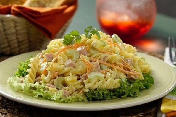 Receta de hoy: Ensalada de pasta hawaiana